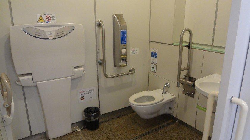 Sensoji toilet around back