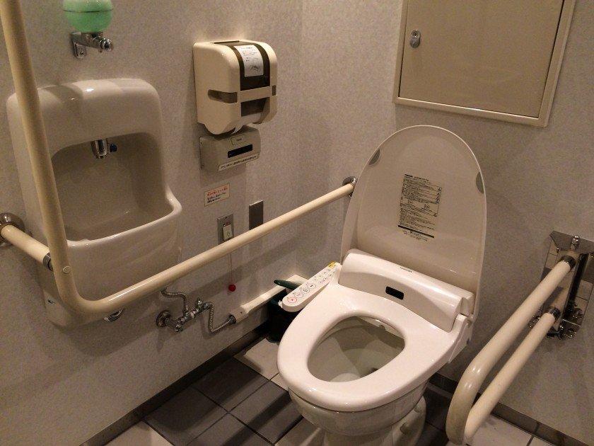 Toilet inside Edo-Tokyo Museum