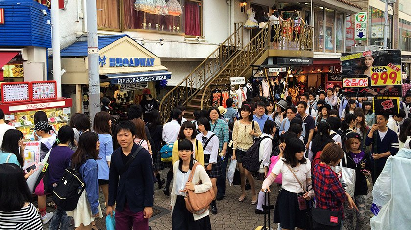 Takeshita Dori gets crowded