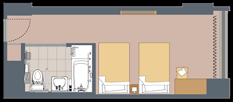 jr_kyushu_hotel_blossom_shinjuku_layout