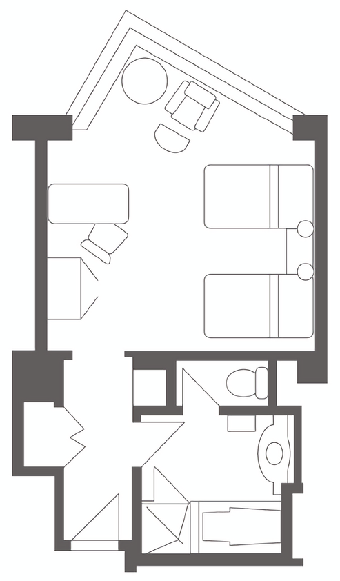 Hotel Chinzanso Tokyo - Accessible Room Layout