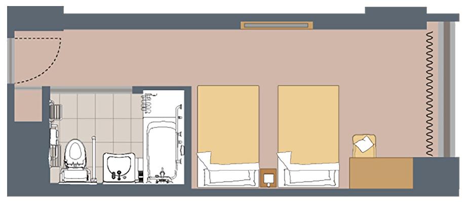 JR Kyushu Hotel Blossom Shinjuku - Accessible Room Layout