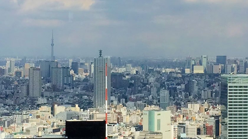Skytree seen from the Tokyo Metropolitan Government Building