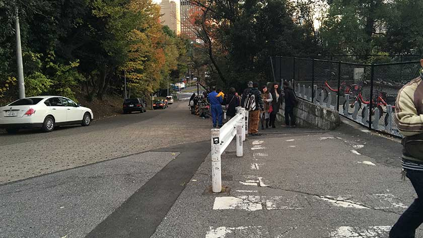 Hill leading up to Tokyo Tower