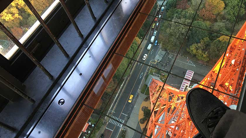 Tokyo tower accessibility review accessible japan for Glass deck floor