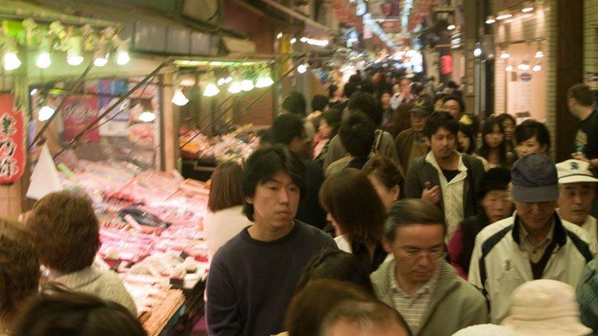 Crowds at Nishiki Market