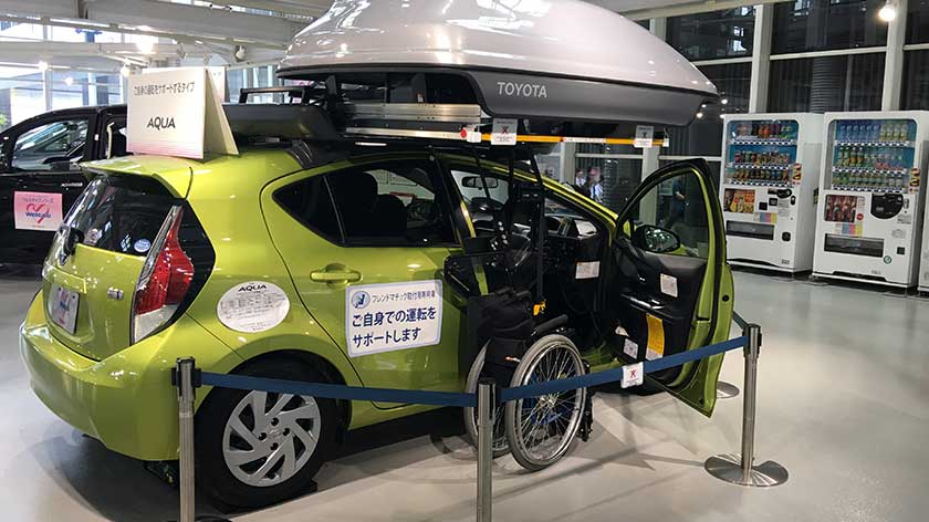 Accessible car at Toyota Mega Web