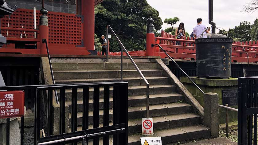Stairs to main hall at Kiyomizi Kannon Hall