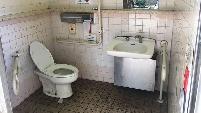 Ueno Park wheelchair accessible toilet