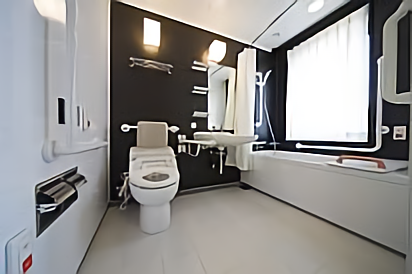 Hotel Kintetsu Kyoto Station Accessible Room Toilet
