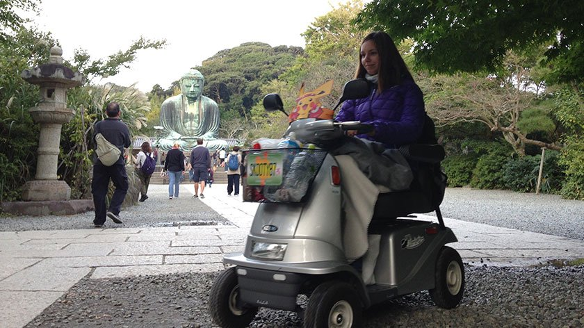 Melanie with the Great Buddha of Kamakura