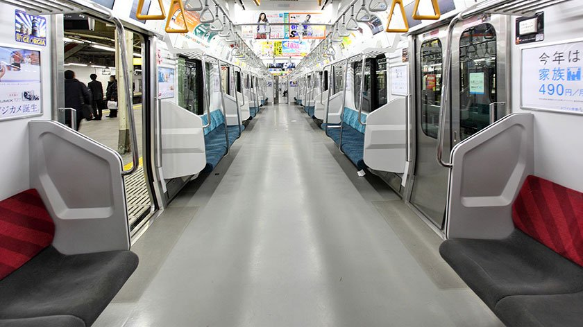 Priority seats on a Japanese train