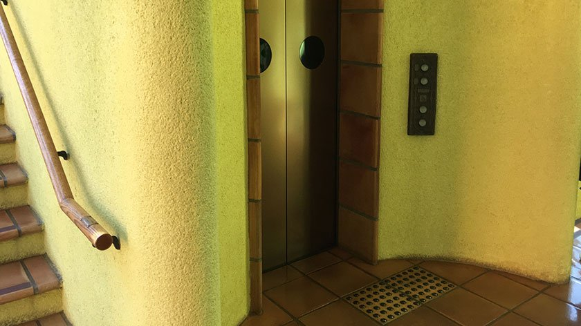 Elevator at the Ghibli Museum