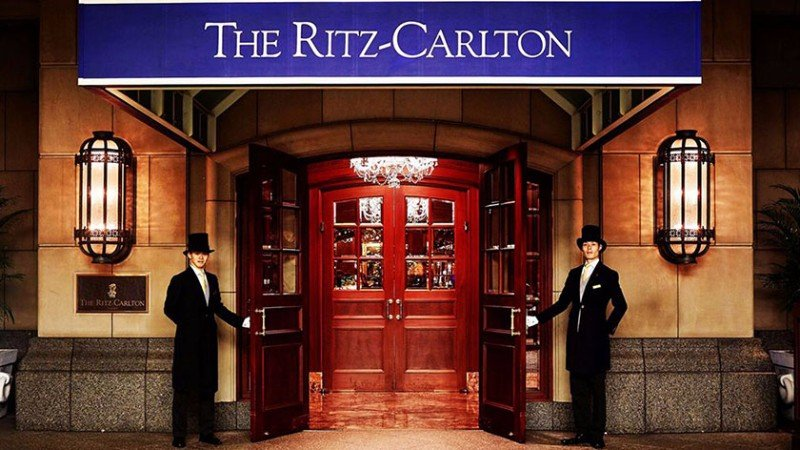 Entrance to the Ritz-Carlton Osaka