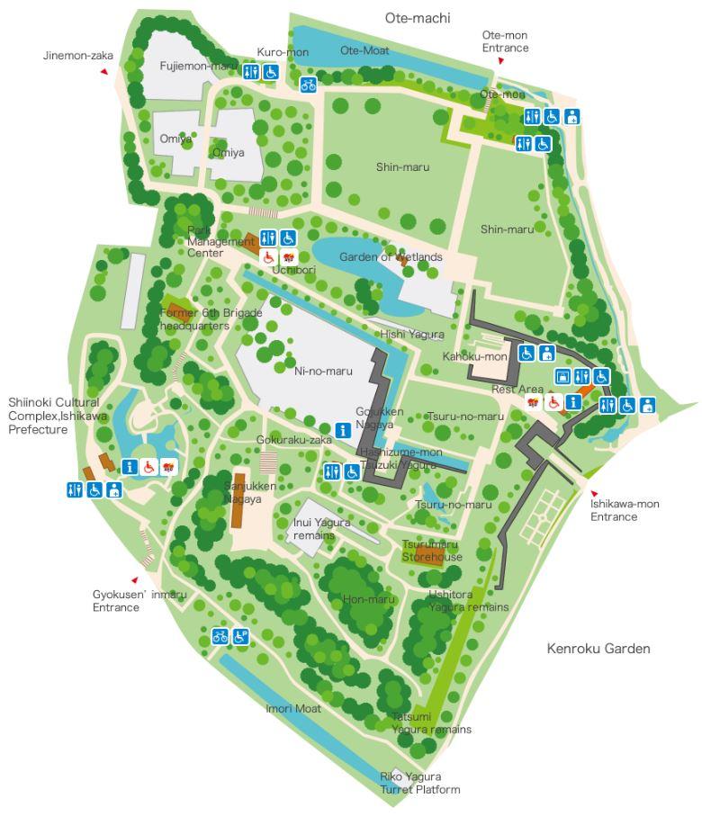 Map of Kanazawa Castle