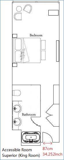 Ritz-Carlton Osaka Accessible Room Layout
