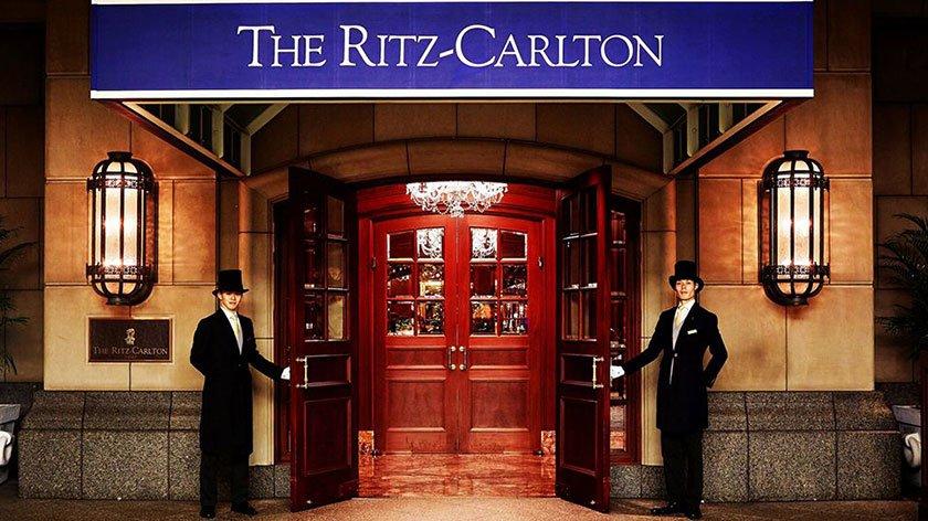 Entrance to the Ritz-Carlton Osaka