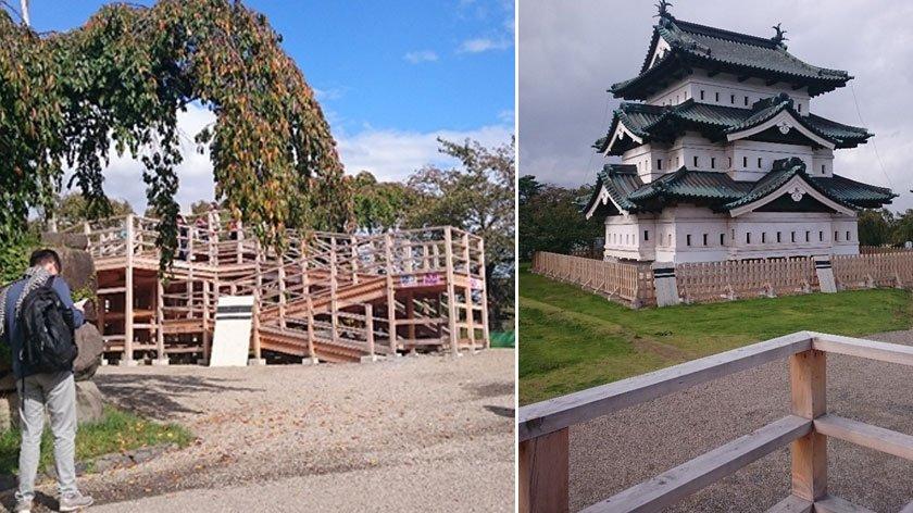 Ramp to see Hirosaki Castle