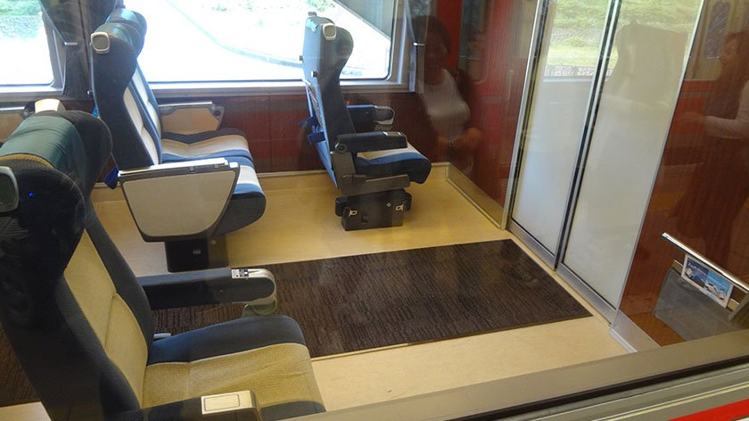 Wheelchair seat in the Romance Car