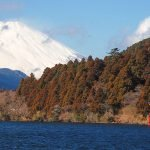 Mount Fuji from Lake Ashi in Hakone