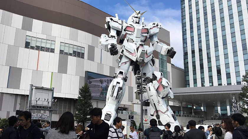 The new Gundam statue in Tokyo is Accessible …mostly
