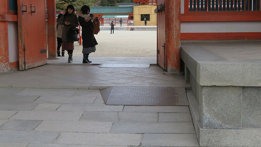 Heian Shrine accessible entrance