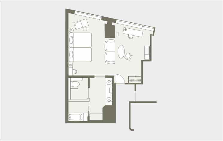 Shibuya Excel Hotel Tokyu room layout