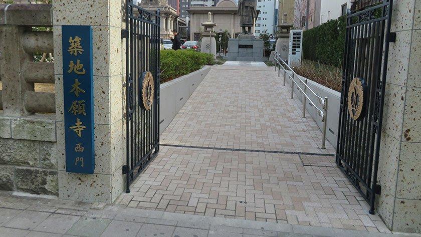 Tsukiji Honganji Temple western entrance