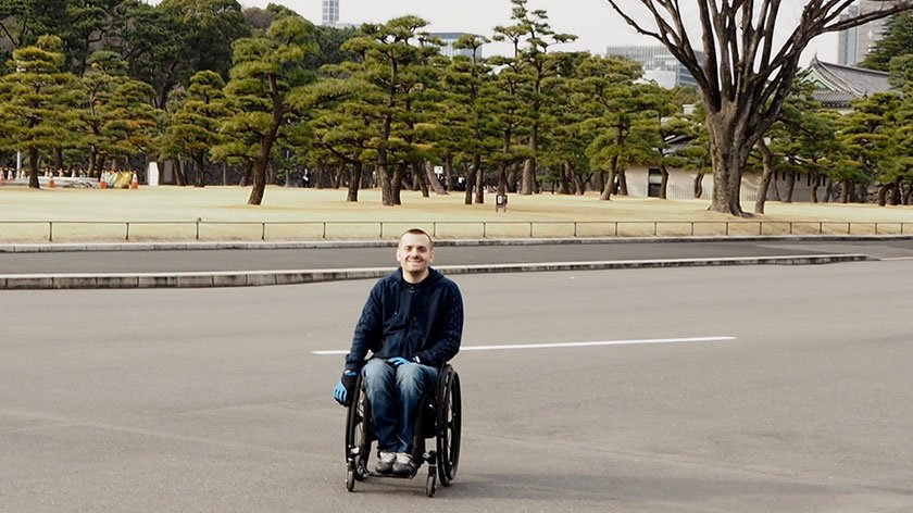 Andy Barrow at the Imperial Palace in Tokyo