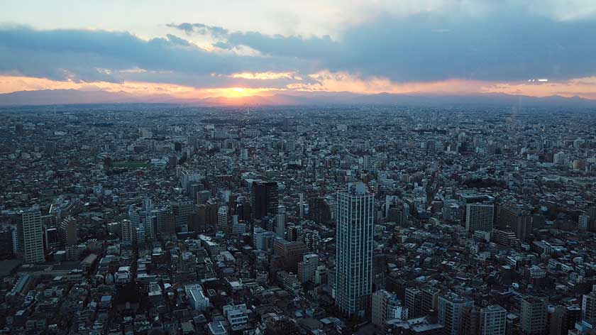 Sunset from Tokyo Metro Government Building