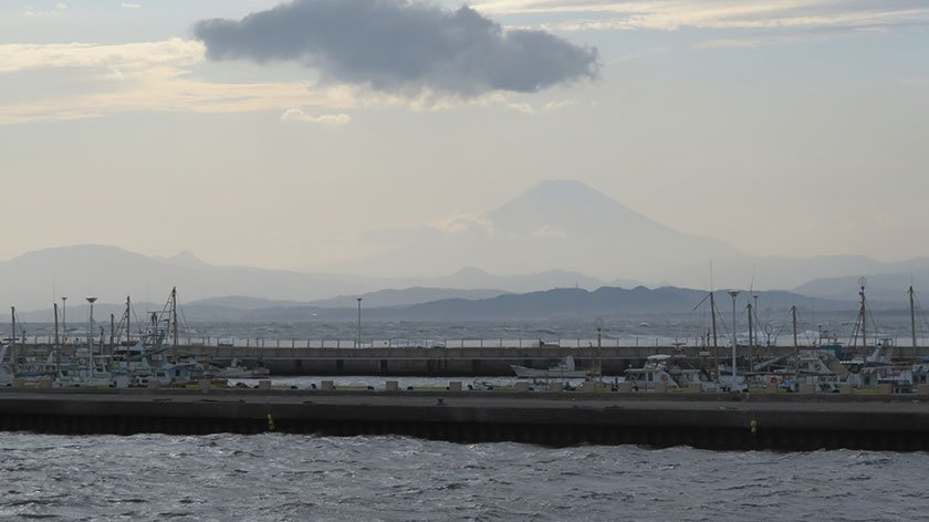 Mount Fuji as seen from Enoshima