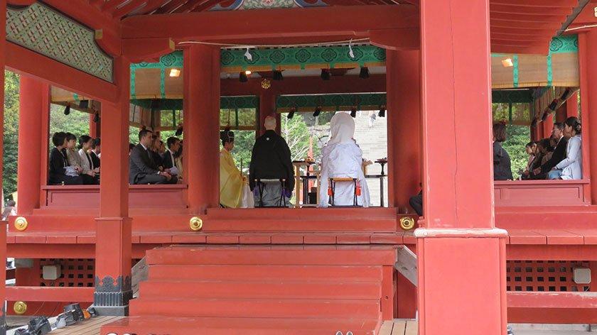Wedding at Tsurugaoka Hachimangu
