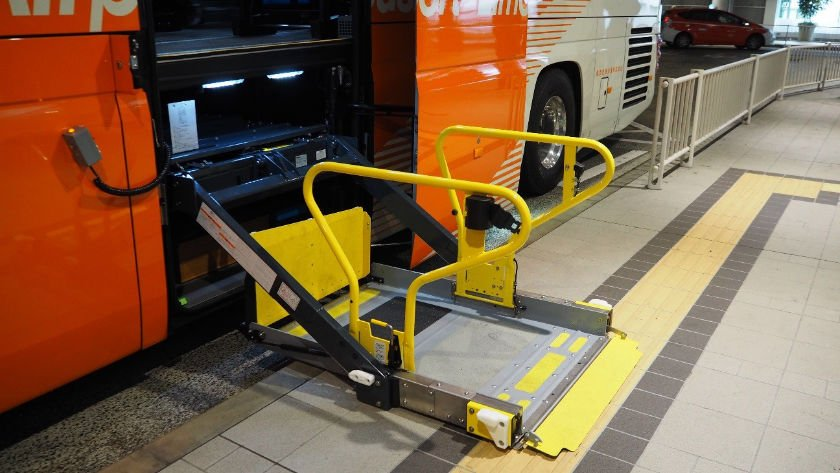 Accessible airport bus lift