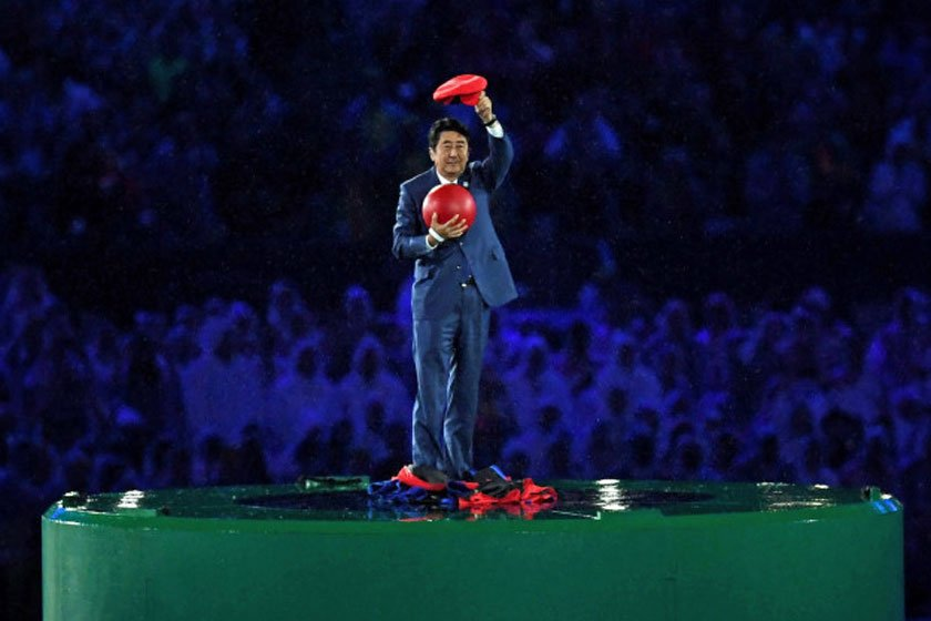 Shinzo Abe as Mario at Rio Olympics