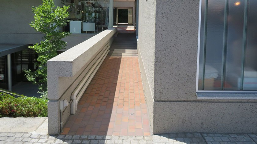 Ramp hidden behind Daikanyama store