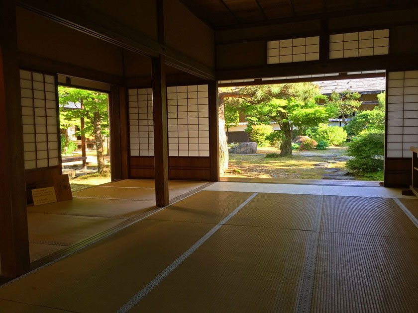Tatami mat in traditional Japanese building