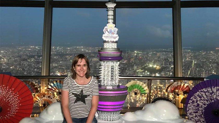 Emily Starnes at Tokyo Skytree