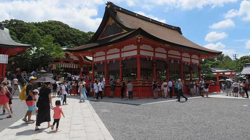 Fushimi Inari Shrine main hall