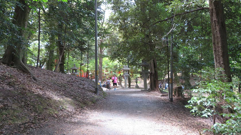 Path on mountain of Fushimi Inari Shrine