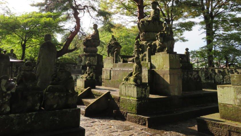 Gohyaku Rakan statues at Kitain in Kawagoe