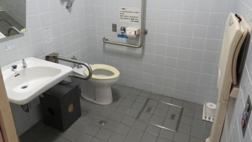 Accessible toilet inside Kawagoe city museum