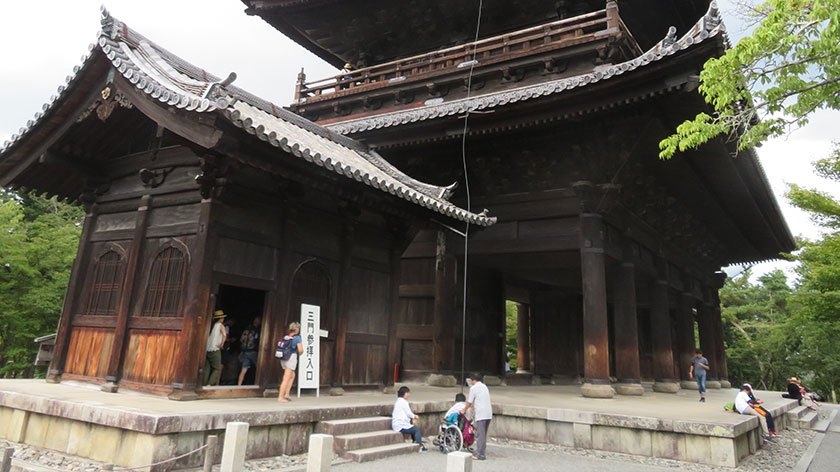 Back of Sanmon Gate at Nanzenji Temple