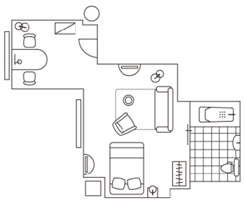 Marunouchi Hotel accessible room layout