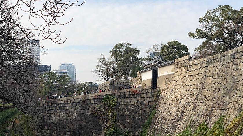 Bridge at moat of Osaka Castle