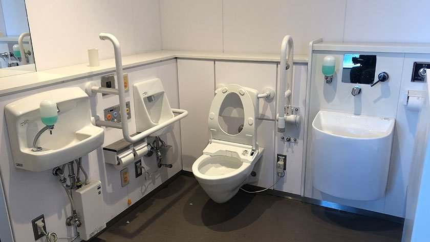 Wheelchair Accessible Toilet at Toyosu Market
