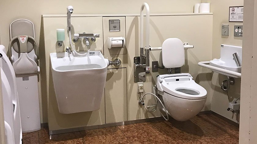 Wheelchair accessible toilet at Kabukiza