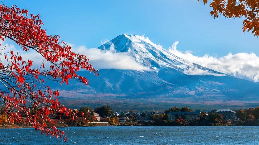 Mt Fuji seen from Lake Kawaguchi