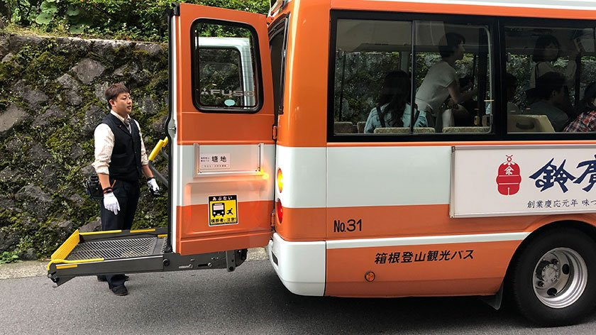 Hakone onsen loop bus