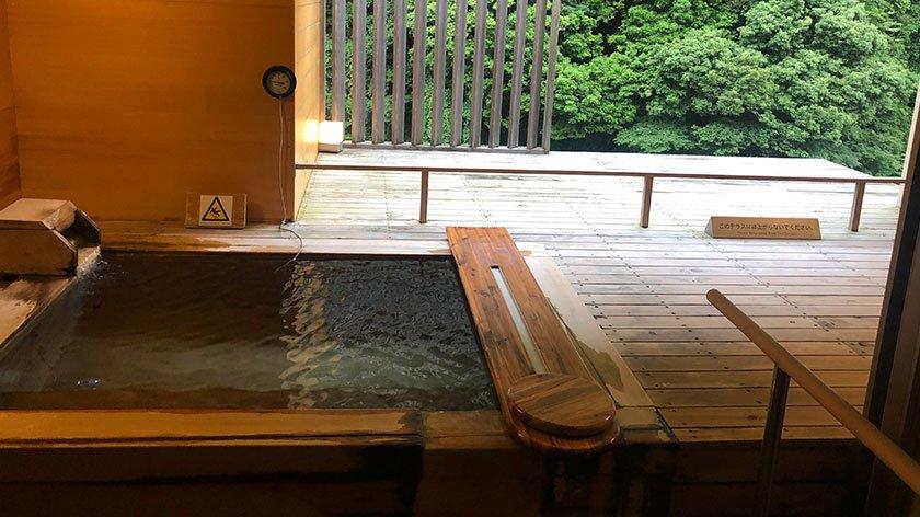 Cloud private bath at Hakone Pax Yoshino