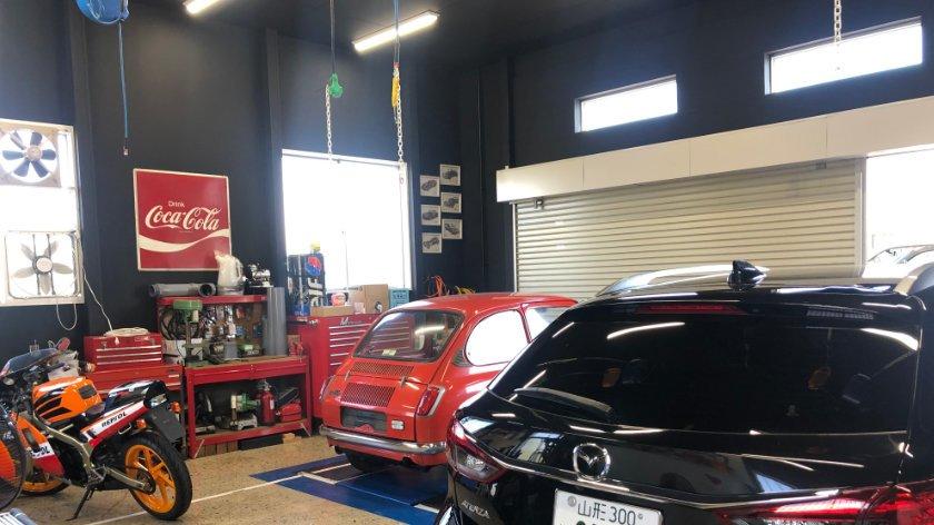 Car repair at Nanyo Base
